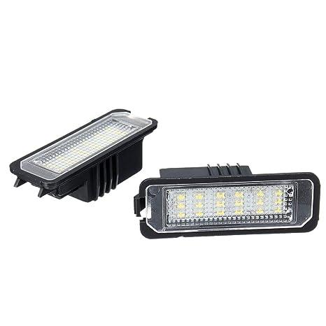 GZLMMY - 2 luces LED para matrícula de Golf 4/5 Passat 3C Limo Lupo