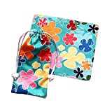 Flower Design Drawstring Bag Sunglasses Glasses Bags Pouch Glasses Bags