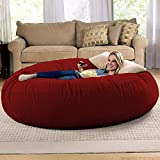 Jaxx 6 Foot Cocoon - Large Bean Bag Chair for Adults, Cinnabar