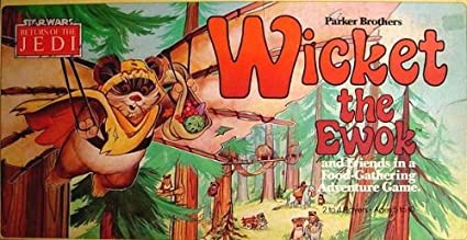 Amazon.com: Wicket the Ewok Vintage 1983 Star Wars Return of the Jedi Board  Game: Toys & Games