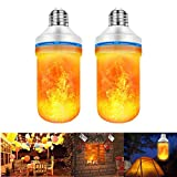 SKERITO Flame Bulb, Patented LED Flame Effect Light Bulb, Flickering Effect Fire Light Bulbs with 4 Lighting Modes - Decorative Lights for Indoor/Outdoor/Holiday/Home/Party(2 Pack)