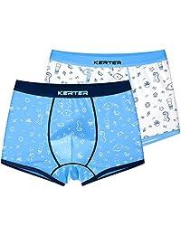 Boys Boxer Briefs Shorts Cotton Underwear Soft Basic Briefs 4-12 Years, 2 Pack