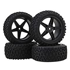 """Note: The color of the item may vary slightly due to photography and your own computer. Applications: RC 1:10 off-road cars. Dimension: Tire Outside diameter:85mm/3.34"""" Tire Inner diameter:56mm/2.2"""" Rear Tire Width:42mm/1.65"""" Front Tire Width..."""