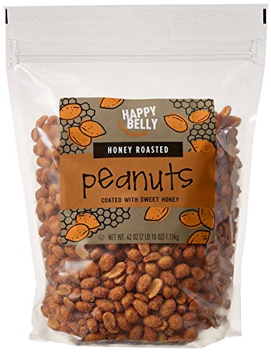 Amazon Brand - Happy Belly Honey Roasted Peanuts, 42 ounce by Happy Belly