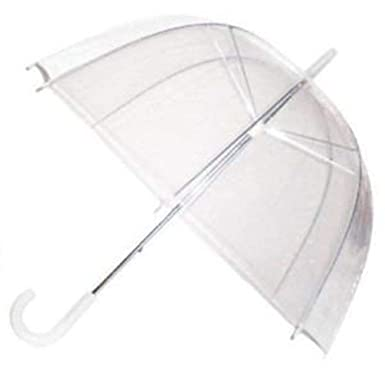 01c236f24 Image Unavailable. Image not available for. Colour: GadgetKing Rain Umbrella  Dome Birdcage Clear Transparent PVC Plastic Wedding See Through ...