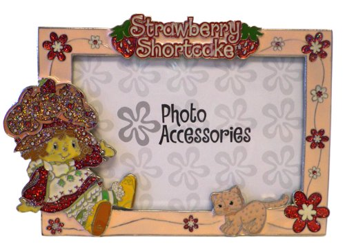 Photo Strawberry Shortcake - Strawberry Shortcake Picture Frame - Strawberry Shortcake Glass Photo Frame (6.5 x 5 Inch)