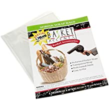 "Photo Frog 66042 Basket Accents Shrink Wrap Bags Medium 24""X30"" 2/Pkg-Clear"