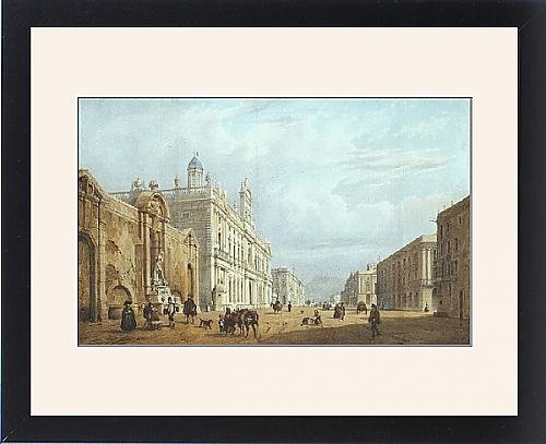 Framed Print of Barcelona. The old waterfront of the city, with by Prints Prints Prints