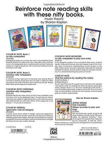 Workbook christmas kids worksheets : Color by Note, Bk 1: A Nifty Notespeller: Sharon Kaplan ...