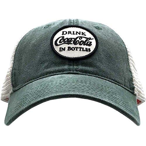 American Needle X Coca-Cola Old School Hat in Green/White
