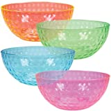 $10.99ChefLand Round Plastic Serving Bowls, Party Snack or Salad Bowl, 96-Ounce, 4 Colors, Set of 4