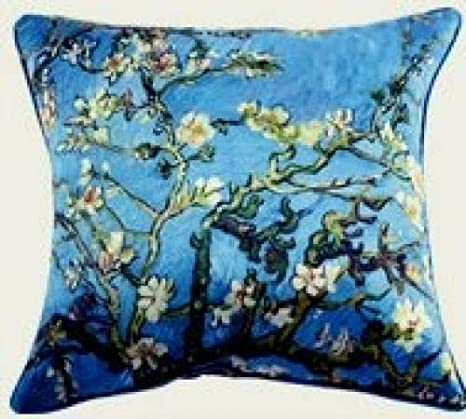 Moderna Elleweideco marrón y azul rama almohada cubierta ...