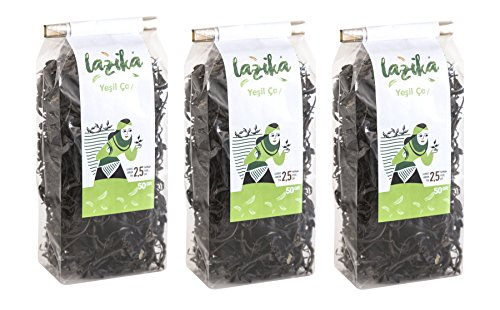 Lazika Green Tea From High-Lands of Black Sea Regon of Turkey (3 Pack, 50 gr Green Tea) (Black Tea Tea Highland)