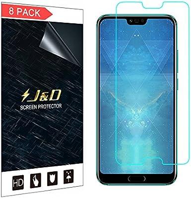 J&D Compatible para 8-Pack Huawei Honor 10 Protector de Pantalla ...