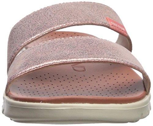 Cole Haan Womens Zerogrand 2 Sandalo Piatto Cinturino In Oro Rosa