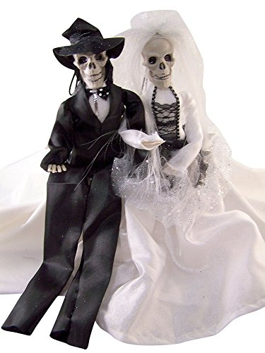 Skeleton Bride and Groom Couple Hanging Halloween Decorations