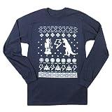 Happy Family Clothing Geeky Ugly Christmas Sweater Long Sleeve T-Shirt Medium Navy