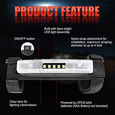 OFFROADTOWN Universal Roll Bar Mount for LED Lights Roll Cage Light Wraparound light bar Universal LED Light Kit Utility Light Mounts on Roll Bars: Automotive