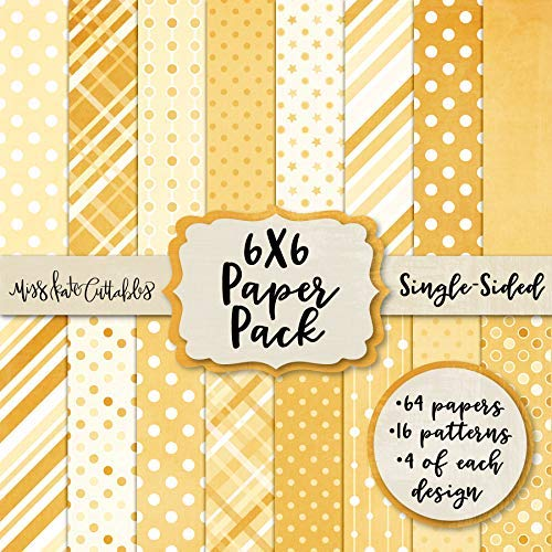 6X6 Pattern Paper Pack - Yellow Patterns - Card Making Scrapbook Specialty Paper Single-Sided 6