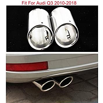 Stainless Steel Exhaust Pipe Muffler Tips 2Pcs For Audi Q3 2013+