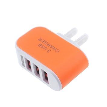 Vimoli USB 5V/3.1A Adaptador de 3 Puertos Cargador Viaje en Casa de Pared Adaptador Compatible con iPad iPhone Samsung Galaxy Nexus Nokia Huawei y Más ...