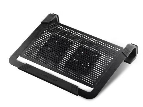 Cooling Pad Netbook - Cooler Master NotePal U2 PLUS - Laptop Cooling Pad with 2 Movable High Performance Fans (Black)