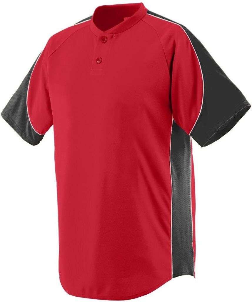 Augusta Sportswear Boys ' Blast Baseball Jersey B00E1YTH3M Large|レッド/ブラック/ホワイト レッド/ブラック/ホワイト Large
