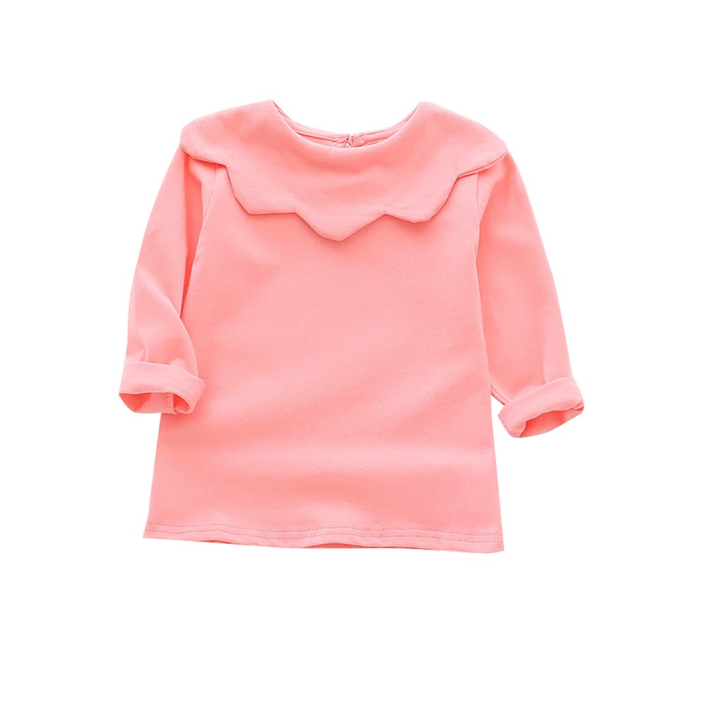 f18f0ec6 SOFE COTTON MATERIAL, GREAT QUALITY -- Baby Girls Tops Solid Blouse,90%  combed cotton ,10% polyester. Breathable and skin-Friendly.Great stretchy,  easy to ...