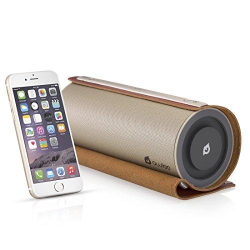 Owlee Scroll Vintage Leather Wireless Bluetooth Speaker, 20W, 2 Powerful drivers, 2 Powerful Woofers, DEEP BASS, Hands-Free Calling, 3D Sound, NFC, 9+ hours Playtime, for IPHONE, IPAD, SAMSUNG PHONE,