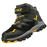 Boots Boys Winter Snow Sneakers Girls Hiking Trekking Outdoor Shoes Youth Big Little Kids Waterproof Non-Slip Steel Buckle