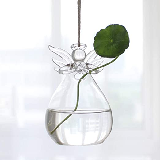 Hanging Glass Plant Pot Terrarium Bottle Vase Holder Home Cafe Shop Decoration
