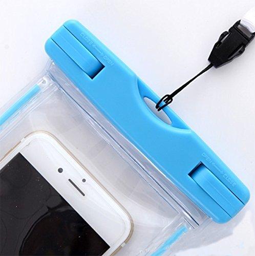 Da Bleu WA Coque /étanche Pochette /étanche Dry Pouch Sac Lumineux Coque Underwater Natation Bateau plong/ée pour la Plupart des Smartphones 4 15,2/cm /écran t/él/éphones Portables