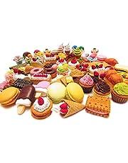 30 st nyhet mat stil penna gummi radergummi, frukt grönsak efterrätt pussel fest suddgummin för barn festpåse fyllmedel