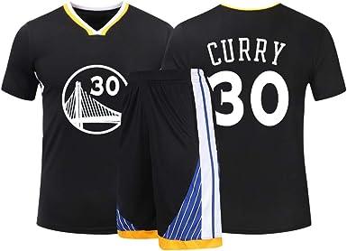 para los fanáticos de # 30 Stephen Curry Golden State Warriors Baloncesto Jersey Niños Jóvenes Ropa Deportiva Camisa Chaleco + Top Pantalones Cortos de Verano Hombre Mujer Camiseta: Amazon.es: Ropa y accesorios