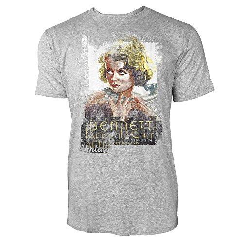 SINUS ART® Bennett Herren T-Shirts stilvolles hellgraues Cooles Fun Shirt mit tollen Aufdruck