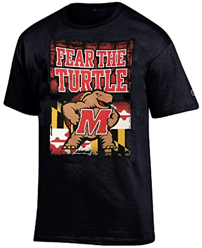 Gear for Sports Maryland Terrapins Black Champion Fear The Turtle T Shirt (X-Large)
