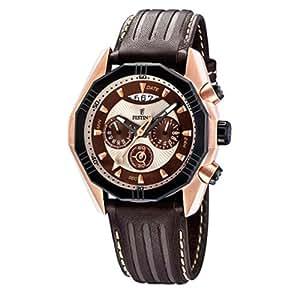 Festina F16384/2 - Reloj cronógrafo de cuarzo para hombre con correa de piel, color marrón
