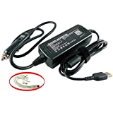 iTEKIRO 90W Car Charger for Lenovo Ideapad 300, 300S, 500, 500S, 700; Thinkpad 13, E460, E465, E560,E565, T460, T460P, T460S, P40 Yoga, P50s, L460, L560, X260; Yoga 260, 460, 500 + 10-in-1 Cable