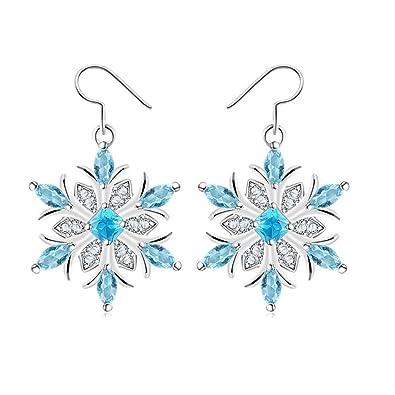 Exquisite Women Crystal Earrings 925 Sterling Silver Cubic Zircon Cube Pendant Cz Drop Earrings For Lady Girl Festival Love Gift Earrings