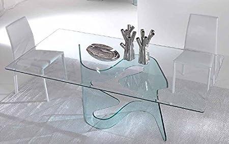 Ideapiu Idea Tavoli In Vetro Fissi E Allungabili Axel Tavolo In Vetro 200x100x74h Amazon It Casa E Cucina