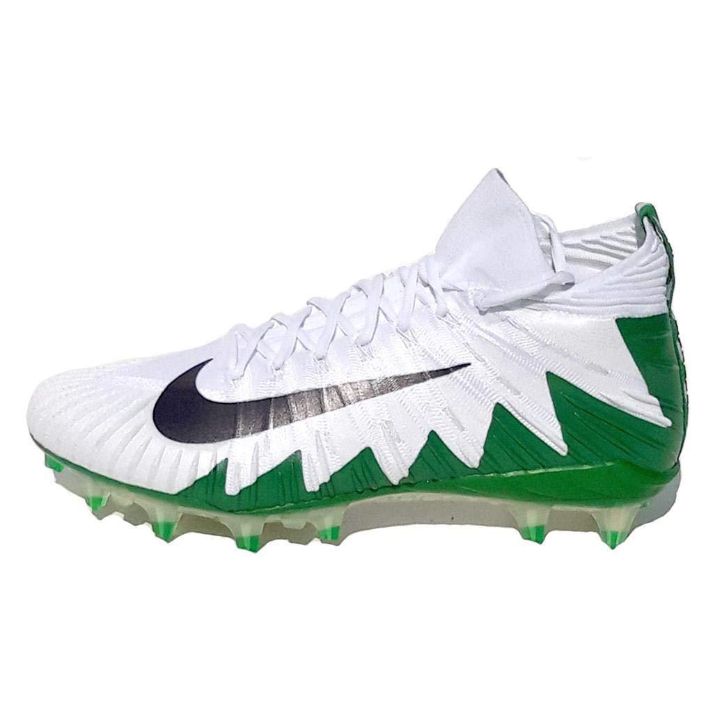 finest selection 647cf bd87d Amazon.com   Nike Alpha Menace Elite White-MTLC Dark Grey-Apple Green Men s  Football Cleats 12 US   Football