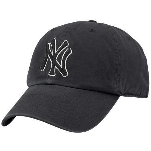 MLB New York Yankees Men's Clean Up Cap, Black (Mlb Hats Vintage)