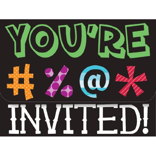 Creative Converting Holy Bleep 8 Count Party Invitations -