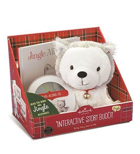 Hallmark Gifts - Jingle the Husky Pup Interactive Storybook and Plush 2.0 ()