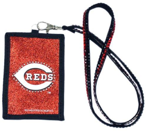 Reds Cincinnati Key (MLB Cincinnati Reds Beaded Lanyard with Nylon Wallet)