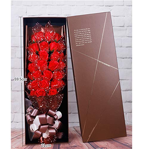 - Gotian Soap Rose Flower Jewelry Storage Gifts Box Valentine's 33Pcs / Box, The foYour Sweetheart or Wife (Red)