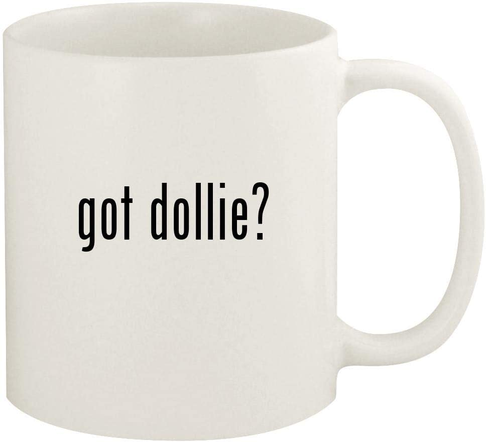 got dollie? - 11oz Ceramic White Coffee Mug Cup, White
