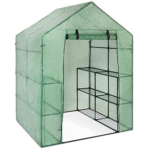 Best Choice Products 3-Tier 12-Shelf Portable Outdoor Mini Garden Walk-in Greenhouse, 57.5