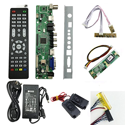 WILLAI v56 LCD TV Controller Driver Board Full kit DIY Monitor for M185XW01 V0 18.5inch Panel