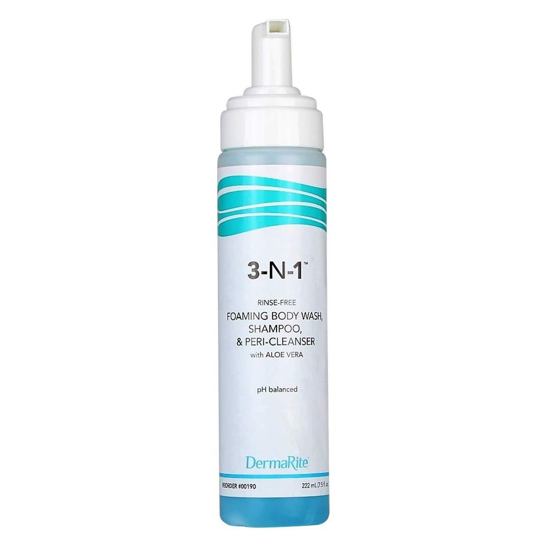 Case of 12 DermaRite Scented Aloe Green Body Wash 8 oz. Pump Bottle by DermaRite 3-N-1 Cleansing Foam